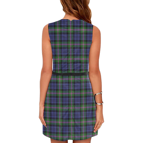 Image of Baird Modern Tartan Sleeveless Dress H01