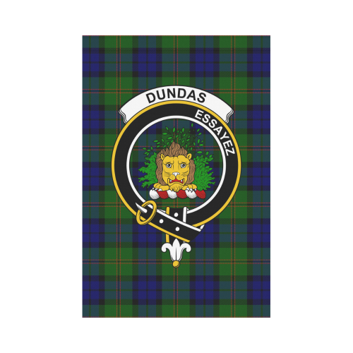 Dundas Clan Badge Tartan Garden Flag