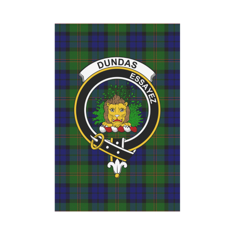 Image of Dundas Clan Badge Tartan Garden Flag