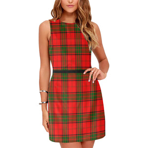 Adair Tartan Sleeveless Dress H01