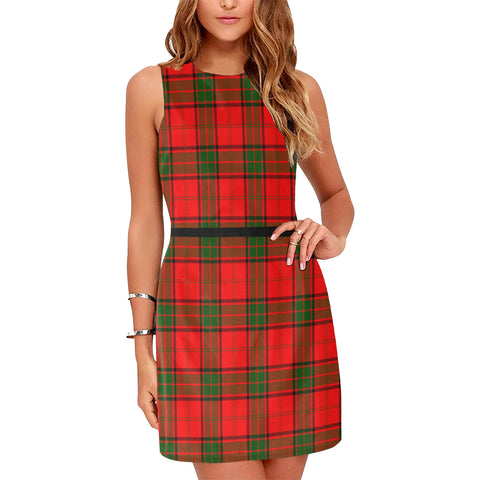 Image of Adair Tartan Sleeveless Dress H01