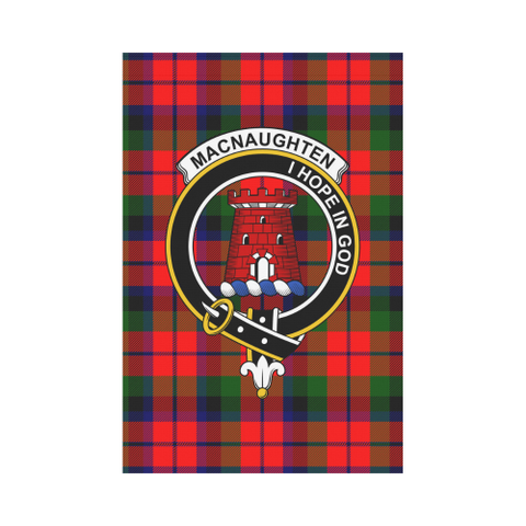 Image of MacNaughton  Clan Badge Tartan Garden Flag