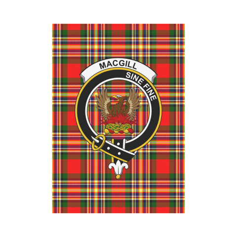Image of MacGill  Clan Badge Tartan Garden Flag