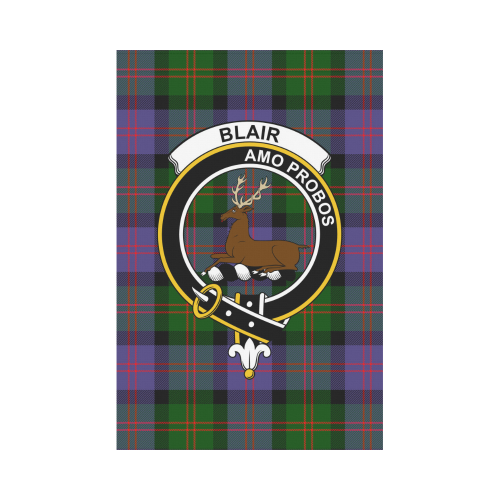 Blair Clan Badge Tartan Garden Flag
