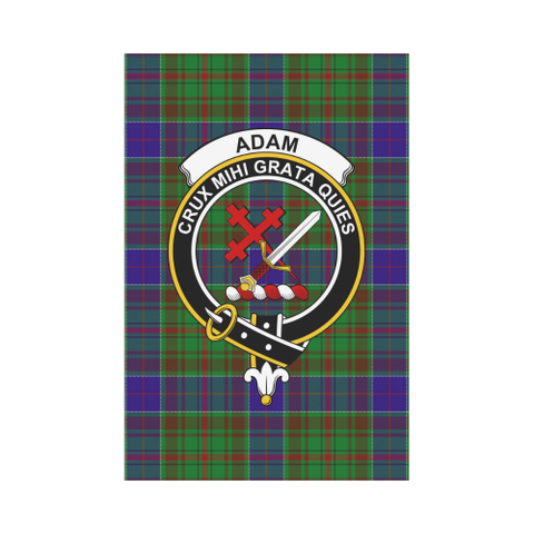 Adam Clan Badge Tartan Garden Flag
