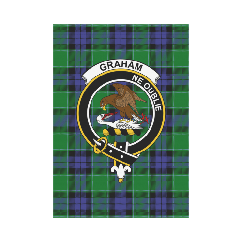 Graham of Menteith Clan Badge Tartan Garden Flag