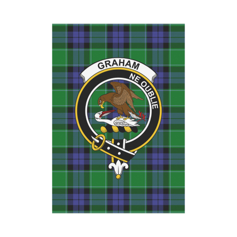 Image of Graham of Menteith Clan Badge Tartan Garden Flag