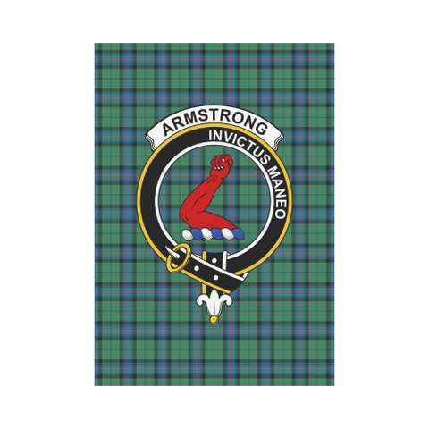Image of Armstrong Ancient Clan Badge Tartan Garden Flag