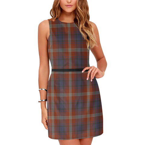 Image of Ainslie Tartan Sleeveless Dress H01