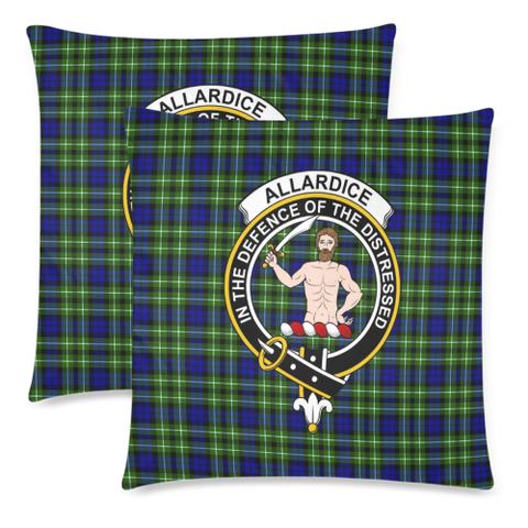 Image of Allardice  Clan Badge Tartan Pillow Cover