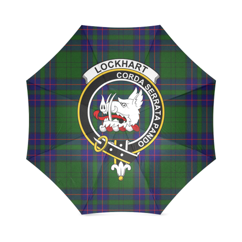 Image of Lockhart Clan Badge Tartan Umbrella