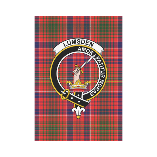 Lumsden  Clan Badge Tartan Garden Flag