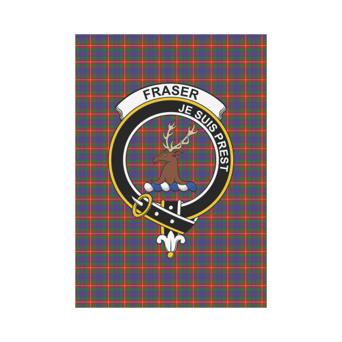 Fraser of Lovat Clan Badge Tartan Garden Flag