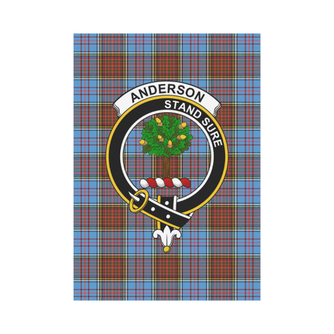Image of Anderson Clan Badge Tartan Garden Flag