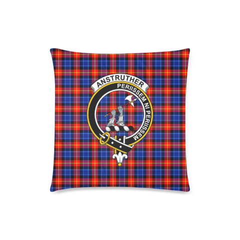 Anstruther  Clan Badge Tartan Pillow Cover