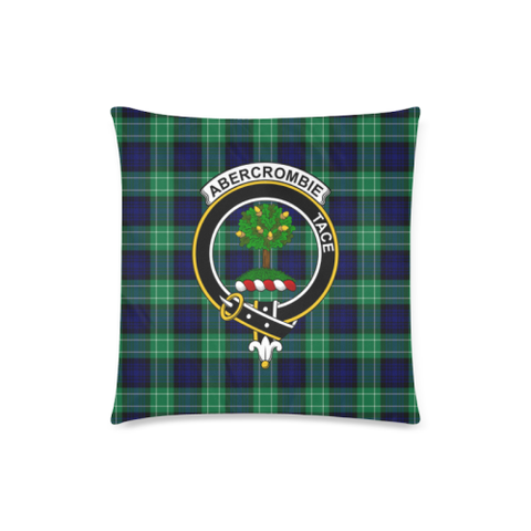 Image of Abercrombie  Clan Badge Tartan Pillow Cover
