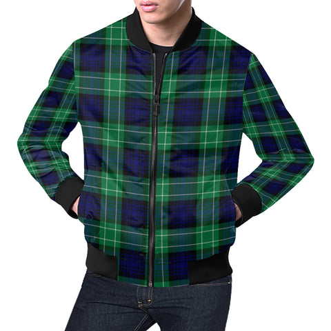 Image of Abercrombie Tartan Bomber Jacket for Men H01