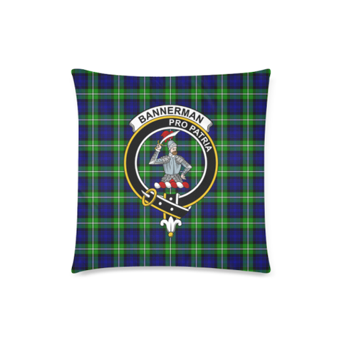 Image of Bannerman  Clan Badge Tartan Pillow Cover
