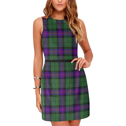 Image of Armstrong Modern Tartan Sleeveless Dress H01