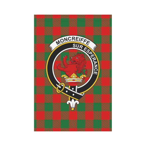 Image of Moncrieffe Clan Badge Tartan Garden Flag