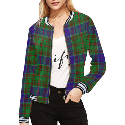 Image of adam Tartan Bomber Jacket H01