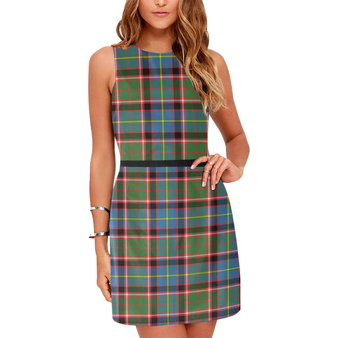 Image of Aikenhead Tartan Sleeveless Dress H01