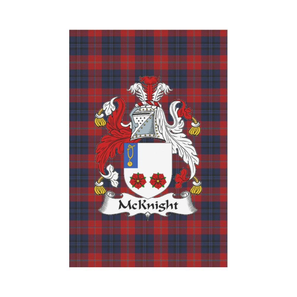 McKnight Clan Badge Tartan Garden Flag