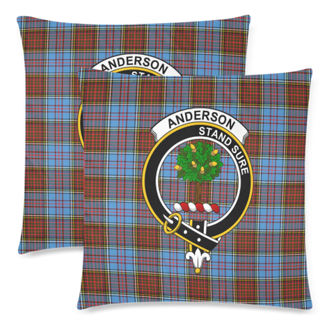 Anderson Clan Badge Tartan Pillow Cover