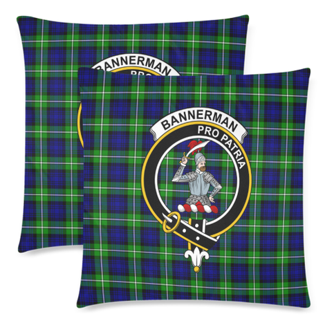 Bannerman  Clan Badge Tartan Pillow Cover