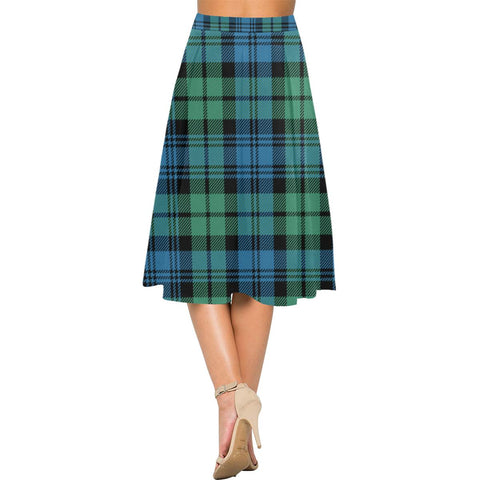 Image of Campbell Ancient 01 Tartan Aoede Crepe Skirt