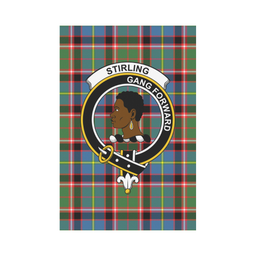 Stirling 2 Clan Badge Tartan Garden Flag