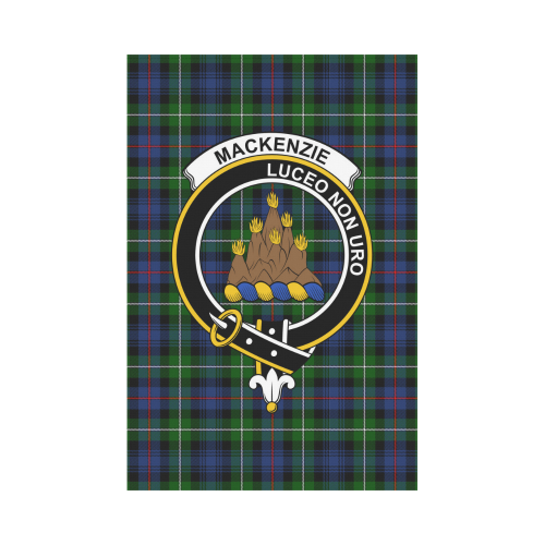 MacKenzie  Clan Badge Tartan Garden Flag