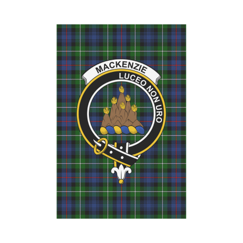 Image of MacKenzie  Clan Badge Tartan Garden Flag