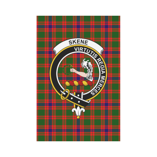 Skene  Clan Badge Tartan Garden Flag