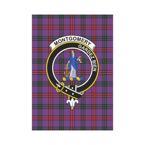 Image of Montgomery  Clan Badge Tartan Garden Flag