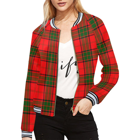 Adair Tartan All Over Print Bomber Jacket H01