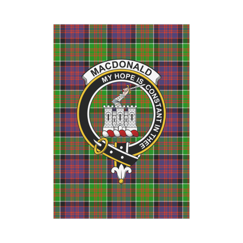 MacDonald of Clanranald Clan Badge Tartan Garden Flag