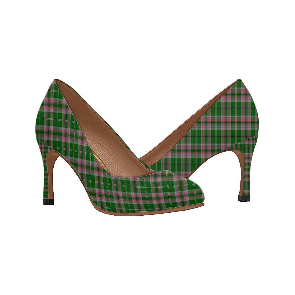 Gray Hunting Tartan Women High Heels