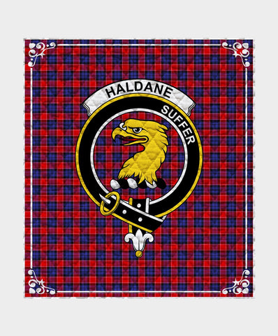 Image of Haldane Clan Badge Tartan Blanket