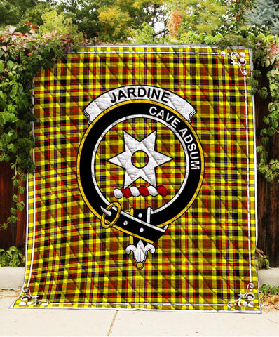 Image of Jardine Clan Badge Tartan Blanket