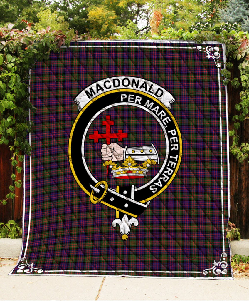 Macdonald Donald Clan Badge Tartan Blanket