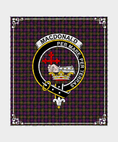 Image of Macdonald Donald Clan Badge Tartan Blanket