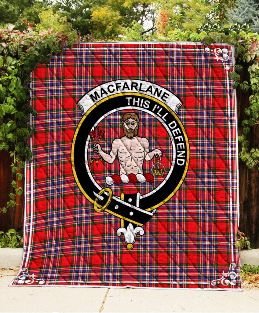 Macfarlane  Clan Badge Tartan Blanket