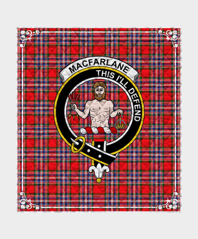 Image of Macfarlane  Clan Badge Tartan Blanket