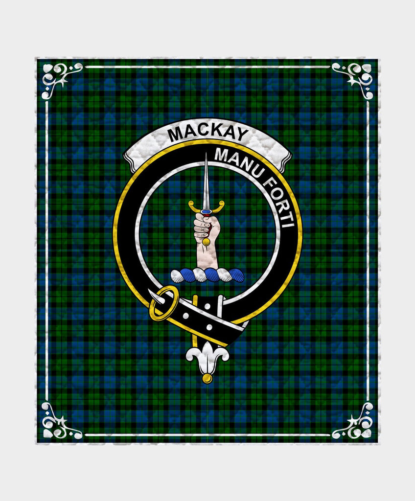 Mackay  Clan Badge Tartan Blanket