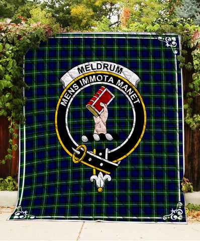 Image of Meldrum Forbes Clan Badge Tartan Blanket