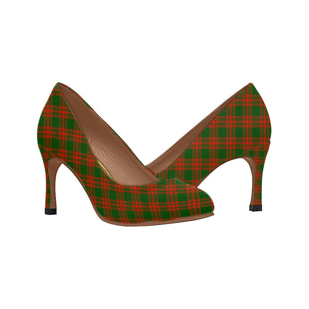 Menzies Green Modern Tartan Women High Heels