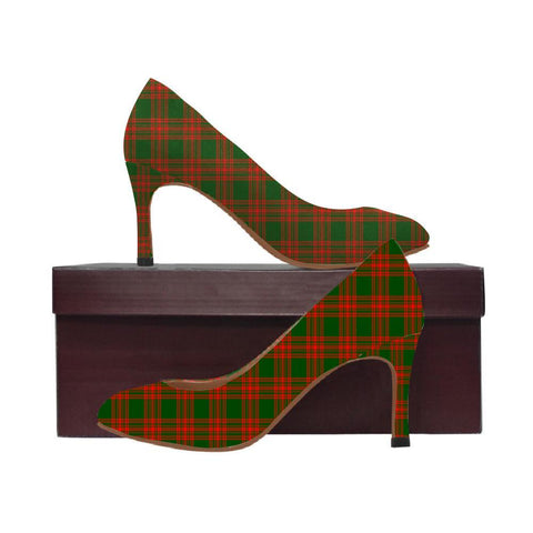 Image of Menzies Green Modern Tartan Women High Heels