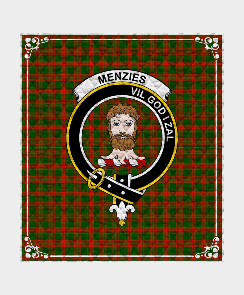 Menzies Clan Badge Tartan Blanket