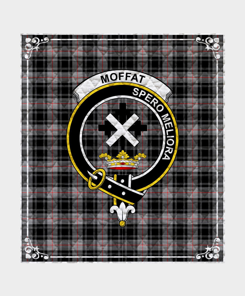 Moffat  Clan Badge Tartan Blanket